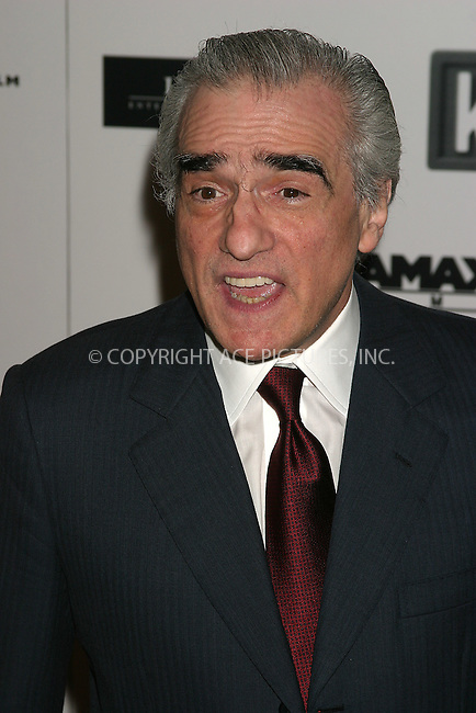 WWW.ACEPIXS.COM . . . . . ....NEW YORK, DECEMBER 14, 2004....Martin Scorsese at the premiere of 'The Aviator' held at the Ziegfeld Theatre.....Please byline: ACE009 - ACE PICTURES.. . . . . . ..Ace Pictures, Inc:  ..Alecsey Boldeskul (646) 267-6913 ..Philip Vaughan (646) 769-0430..e-mail: info@acepixs.com..web: http://www.acepixs.com