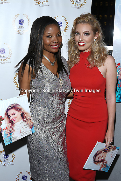 Maggie Delany, owner of EPN Spotlight Magazine  and Dalal/ Dalal Bruchmann. Recording Artist,Composer and Actress attends the &quot;EPN Spotlight Magazine&quot;  launch party on June 10, 2016 at the Renaissance NY Hotel in New York, New York, USA. Dalal Bruchmann is the cover model.<br /> <br /> photo by Robin Platzer/Twin Images<br />  <br /> phone number 212-935-0770