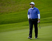 16.10.2014. The London Golf Club, Ash, England. The Volvo World Match Play Golf Championship.  Day 2 group stage matches.  Francesco Molinari [ITA] walks to the fourth green.