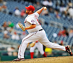 8 September 2011: Washington Nationals pitcher Todd Coffey on the mound against the Los Angeles Dodgers at Nationals Park in Washington, DC. The Dodgers defeated the Nationals 7-4 to take the third game of their 4-game series. Mandatory Credit: Ed Wolfstein Photo
