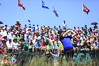 Tommy Fleetwood (ENG) tees off the 1st tee to start his match during Friday's Round 2 of the 117th U.S. Open Championship 2017 held at Erin Hills, Erin, Wisconsin, USA. 16th June 2017.<br /> Picture: Eoin Clarke | Golffile<br /> <br /> <br /> All photos usage must carry mandatory copyright credit (&copy; Golffile | Eoin Clarke)