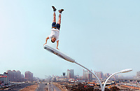 "Li Wei artwork named ""Bright Apex"" in Beijing...PHOTO BY SINOPIX"