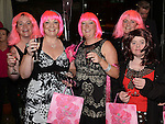 Julie Crone, Sarah Dunne, Grainne Richmond, Sinead Ivers and Niamh kiernan who attended the 'Pink & Bling' in aid of breast cancer awareness at the Black Bull. Photo:Colin Bell/pressphotos.ie