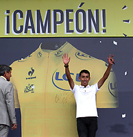 ZIPAQUIRÁ - COLOMBIA, 07-08-2019:Recibimiento de Egan Bernal Ganador del Tour de Francia 2019 en su ciudad ./<br /> Egan Bernal Reception Winner of the Tour de France 2019 in your city. Photo: VizzorImage / Felipe Caicedo / Satff