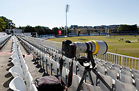 Photographers view of the ground from the Tom Pearce upper stand prior to Essex CCC vs Kent CCC, Bob Willis Trophy Cricket at The Cloudfm County Ground on 2nd August 2020