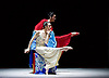 National Ballet of China <br /> The Peony Pavillion <br /> at Sadler's Wells, London, Great Britain <br /> press photocall / rehearsal <br /> 29th November 2016 <br /> <br /> Zhu Yan as Du Liniang <br /> <br /> <br /> Zhang Jian as Flower Goddess <br /> <br /> <br /> Photograph by Elliott Franks <br /> Image licensed to Elliott Franks Photography Services