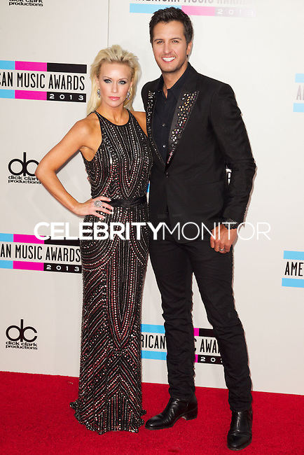 LOS ANGELES, CA - NOVEMBER 24: Caroline Bryan, Luke Bryan arriving at the 2013 American Music Awards held at Nokia Theatre L.A. Live on November 24, 2013 in Los Angeles, California. (Photo by Celebrity Monitor)