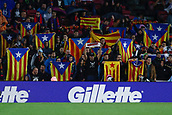 4th November 2017, Camp Nou, Barcelona, Spain; La Liga football, Barcelona versus Sevilla; Catalan flags during the match