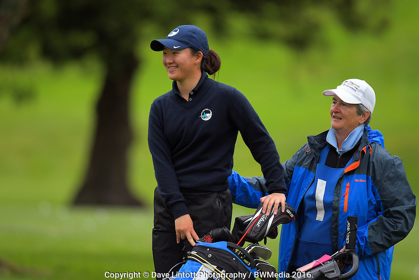 Rose Zheng (Auckland). 2016 Toro Women's Interprovincial Golf Championship at Westown Golf Club in New Plymouth, New Zealand on Saturday, 10 December 2016. Photo: Dave Lintott / lintottphoto.co.nz