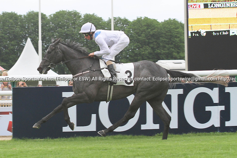 Laugh out loud  (no 3), ridden by W. Buick and trained by Mr Channon, wins the Prix de Sandringham on June 03, 2012 at Chantilly Racecourse in Chantilly, France. (Jean-Philippe Debargue/Eclipse Sportswire)