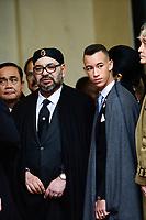 Mohammed VI - Roi du Maroc et son fils Hassan du Maroc<br /> Parigi 11-11-2018 <br /> Eliseo Pranzo Ufficiale Capi di Stato <br /> Commemorazione 100 anni dalla fine della Grande Guerra, Prima Guerra Mondiale <br /> Foto JB Autissier/Panoramic / Insidefoto