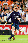 Arthur Melo of FC Barcelona warming up during their La Liga 2018-19 match between Valencia CF and FC Barcelona at Estadio de Mestalla on October 07 2018 in Valencia, Spain. Photo by Maria Jose Segovia Carmona / Power Sport Images