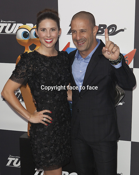 NEW YORK, NY - JULY 9: Tony Kanaan attends the 'Turbo' premiere at AMC Loews Lincoln Square on July 9, 2013 in New York City.<br />