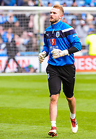 Huddersfield Town's goalkeeper Jonas L?ssl (1) during the EPL - Premier League match between Huddersfield Town and Crystal Palace at the John Smith's Stadium, Huddersfield, England on 17 March 2018. Photo by Stephen Buckley / PRiME Media Images.