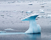 Ice sculptures near the Lemaire Channel in Antarctica.
