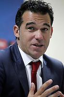 Getafe's coach Luis Garcia in press conference after La Liga match.November 18,2012. (ALTERPHOTOS/Acero) NortePhoto