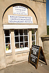 The Bridge Coffee shop, Pulteney Bridge, Bath cream tea menu board