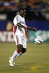 2 October 2004: Freddy Adu settles the ball before scoring the game's only goal in the 16th minute. DC United defeated the MetroStars 1-0 at Giants Stadium in East Rutherford, NJ during a regular season Major League Soccer game..