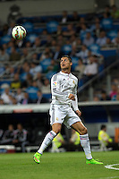 MADRID - ESPAÑA - 23-09-2014: Cristiano Ronaldo, jugador de Real Madrid durante partido de la Liga de España, Real Madrid y Elche en el estadio Santiago Bernabeu de la ciudad de Madrid, España. / Cristiano Ronaldo, player of Real Madrid during a match between Real Madrid and Elche for the Liga of Spain in the Santiago Bernabeu stadium in Madrid, Spain  Photo: Asnerp / Patricio Realpe / VizzorImage.