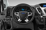 Car pictures of steering wheel view of a 2019 Ford Transit Wagon 350 XLT Wagon Low Roof 60/40 Pass. 148WB 5 Door Passenger Van
