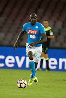 Kalidou Koulibaly  during the  italian serie a soccer match,between SSC Napoli and AC Chievo       at  the San  Paolo   stadium in Naples  Italy , September 25, 2016