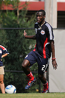 Tony Tchani (23) during a New York Red Bulls practice on the campus of Montclair State University in Upper Montclair, NJ, on July 16, 2010.