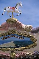 Europe/France/Aquitaine/33/Gironde/Bassin d'Arcachon/Arcachon/Le Moulleau: Détail du décor d'un manège sur la jetée représentant la dune du Pilat