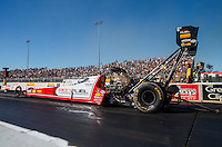 Jul 29, 2016; Sonoma, CA, USA; NHRA top fuel driver Shawn Langdon during qualifying for the Sonoma Nationals at Sonoma Raceway. Mandatory Credit: Mark J. Rebilas-USA TODAY Sports