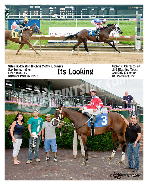 Its Looking winning at Delaware Park on 8/19/13