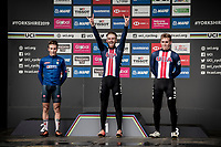 Quinn Simmons (USA) is the 2019 Junior World Champion<br /> - Alessio Martinelli (ITA) is 2nd<br /> - Magnus Sheffield (USA) is 3rd<br /> <br /> <br /> Junior Men road race<br /> from Richmond to Harrogate (148km)<br /> 2019 Road World Championships Yorkshire (GBR)<br /> <br /> ©kramon
