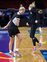 04.08.2015 Silver Ferns Case Kopua during Silver Ferns training ahead of the 2015 Netball World Champs at All Phones Arena in Sydney, Australia. Mandatory Photo Credit ©Michael Bradley.