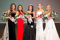 Victoria Kokinos, a senior geoscience major from Buford, Georgia, wears the crown of Miss Maroon &amp; White after winning the annual pageant at Mississippi State on Tuesday [March 27]. Also taking home pageant honors were Campus Beauties, from left, Ragan Middleton, a junior educational psychology major from Brandon; Emily Tingle, a junior political science major from Vicksburg; Rachel Shumaker, a sophomore communication major from Pontotoc; and Kateland Kennedy, a junior communication major from Tupelo. <br />