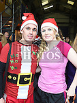 Colin Leonard and Roisin McGeough who took part in the annual Chernobyl swim at Clogherhead.  Photo:Colin Bell/pressphotos.ie