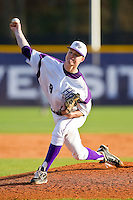 High Point Panthers starting pitcher Malcolm Clapsaddle #8 in action against the Manhattan Jaspers at Willard Stadium on March 9, 2012 in High Point, North Carolina.  The Panthers defeated the Jaspers 11-6.  (Brian Westerholt/Four Seam Images)