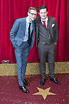 © Licensed to London News Pictures . 16/05/2015 .  The Palace Hotel , Manchester , UK . Jamie Borthwick and Harry Reid . The red carpet at the 2015 British Soap Awards , The Palace Hotel , Oxford Road , Manchester . Photo credit : Joel Goodman/LNP