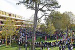 LONGCHAMP, FRANCE - October 06, 2018: View at the renovated Parade Ring and Grandstand of the Longchamp race track, now officially called ParisLongchamp, which reopened in April 2018