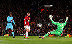Wayne Rooney of Manchester United scores his sides first goal during the UEFA Europa League match at Old Trafford, Manchester. Picture date: November 24th 2016. Pic Matt McNulty/Sportimage