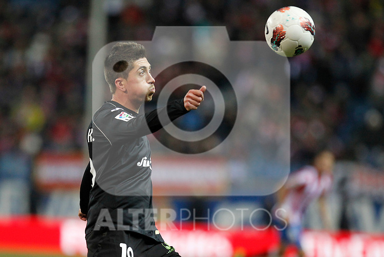Madrid (05/02/2012) LIGA BBVA.Atletico de Madrid- Valencia C.F....PABLO HERNANDEZ....