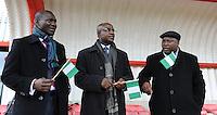 U17 : Belgian Red Flames - Nigeria <br /> <br /> Leden van Nigeriaanse delegatie<br /> <br /> foto Dirk Vuylsteke / Nikonpro.be