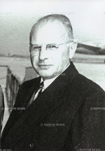 Undated - Joseph Dodge (1890 - 1964) was a chairman of the Detroit Bank, now Comerica, and later served as an economic advisor for postwar economic stabilization programs in Germany and Japan. The Dodge Line was a financial and monetary contraction policy drafted by him for Japan to gain economic independence after World War II. It was announced on March 7, 1949. (Photo by Kingendai Photo Library/AFLO)