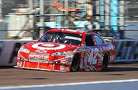Apr 17, 2009; Avondale, AZ, USA; NASCAR Sprint Cup Series driver Juan Pablo Montoya during qualifying for the Subway Fresh Fit 500 at Phoenix International Raceway. Mandatory Credit: Mark J. Rebilas-