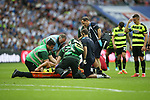 Huddersfield's Tommy Smith goes off injured during the Championship Play-Off Final match at Wembley Stadium, London. Picture date: May 29th, 2017. Pic credit should read: David Klein/Sportimage