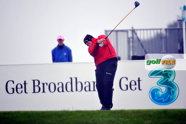 John Daly tees off for his second 9 holes on the 1st tee during Round 2 of the 3 Irish Open on 15th May 2009 (Photo by Eoin Clarke/GOLFFILE)