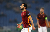 Calcio, Champions League: Gruppo E - Roma vs Bate Borisov. Roma, stadio Olimpico, 9 dicembre 2015.<br /> Roma's Mohamed Salah reacts during the Champions League Group E football match between Roma and Bate Borisov at Rome's Olympic stadium, 9 December 2015.<br /> UPDATE IMAGES PRESS/Riccardo De Luca