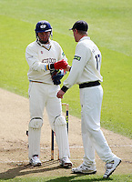 PICTURE BY VAUGHN RIDLEY/SWPIX.COM - Cricket - County Championship Div 2 - Yorkshire v Essex, Day 3 - Headingley, Leeds, England - 21/04/12 - Yorkshire's Jonny Bairstow and Steven Patterson run out Essex's Tymal Mills.
