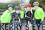 Lucas O'Donoghue, Eoin Pattell, Eoin Blake, John O'Shea and Patrick Galvin Killarney who participated in the Killarney Cycling club open day in Killarney on Saturday