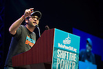 Josh Fox, director of Gasland speaks at the Powershift 2013 plenary in Pittsburgh, PA. (Photo by: Robert van Waarden)