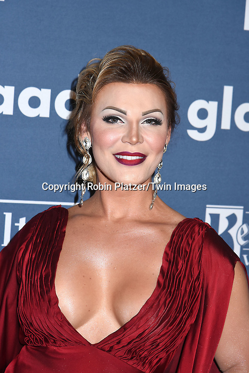 Vinna Rouge attends the 27th Annual GLAAD Media Awards on May 14, 2016 at the Waldorf Astoria Hotel in New York City, New York, USA.<br /> <br /> photo by Robin Platzer/Twin Images<br />  <br /> phone number 212-935-0770