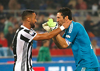 Mehdi Benatia of Juventus  and Gianluigi Buffon of Juventus  celebrates at the end the  Coppa Italia ( Tim Cup) final soccer match,  Ac Milan  - Juventus Fc       at  the Stadio Olimpico in Rome  Italy , 09 May 2018