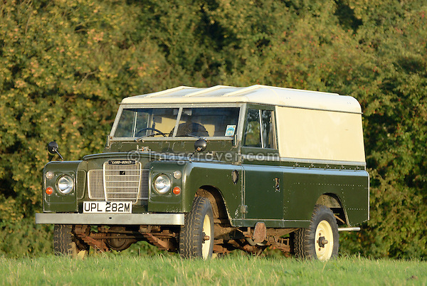 Very original historic 1970s Land Rover Series 3 LWB Hardtop. Seen at the Dunsfold Collection Open Day 2006, Dunsfold, UK, England., Dunsfold Collection Open Day 2006, Dunsfold, England, UK. --- No releases available. Automotive trademarks are the proper, authorization may be needed for some uses.
